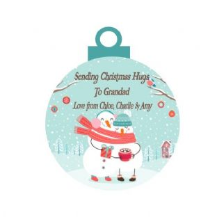 Christmas Hug Acrylic Christmas Ornament Decoration Snowmen